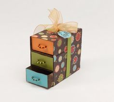 """Recycled matchbox """"chest of drawers."""" ~ Mod Podge Rocks!"""