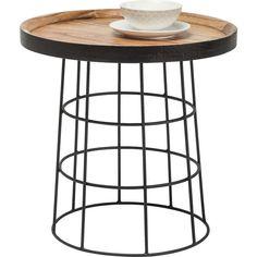 Tisch:  Rodeo Drive    Die Tischplatte besteht aus lackiertem Mindi-Holz in praktischer Tablettform. Für industrielle Aspekte sorgt das Stahlgestell. Damit findet der Beistelltisch aus der Country Life Serie in rustikalen wie modernen...