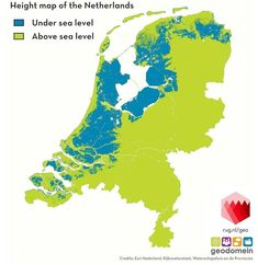 Height map of the Netherlands! ▪▪▪ This does not include the lands at sea level, which is like too ▪▪▪ Sourc Netherlands Map, Sea Level, Gaia, Charts, Instagram, Graphics, Graph Of A Function