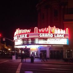 Grand Lake Theatre - Oakland, CA, United States. Outside of the theater.