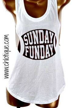 Pre Order!! This will ship on Friday 10/2 . Who loves their football Sundays? We here at Chlotique love our football and what better way to show it than with this tank. Pair with a fun flannel or cham