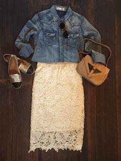 Bentley Crochet Pencil Skirt | SexyModest Boutique
