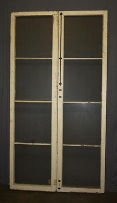Double French doors with eight lites