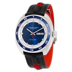 Hamilton Men's Khaki X Wind Automatic Chronograph Men's Watch H77616533 H77616533 - Watches, Hamilton - Jomashop Hamilton Khaki Navy, Rolex Daytona, Timeless Classic, Vintage Watches, Watches For Men, Wrist Watches, Men's Watches, Navy Blue, Black Leather