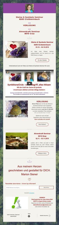 Steine & Symbole Seminar  8265 Großsteinbach    ***  VERLOSUNG    ***  Ahnenkraft Seminar  8010 Graz Graz, Prize Draw, Stones
