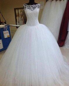 Modest Ball Gown Wedding Dresses Scoop A. Puffy Wedding Dresses, Wedding Dress Backs, Making A Wedding Dress, Sheer Wedding Dress, Wedding Dress With Pockets, Dream Wedding Dresses, Wedding Gowns, Lace Wedding, Mermaid Wedding