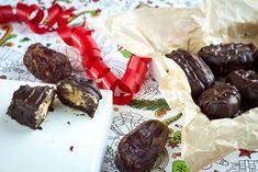mini snickersit taateleista Vegan Party Food, Vegan Christmas, Sweet Life, Sweets, Candy, Baking, Mini, Ethnic Recipes, Sweet Pastries