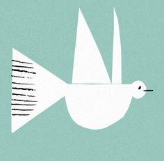 Rob Hodgson, Dove, illustration, colour, print, simplicity