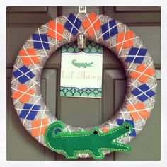 Florida Gators Wreath by lawrencedesign on Etsy, $45.00