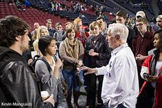 Josh McDowell speaks with Liberty students.Apologist and legendary Christian author Josh McDowell decided against giving a speech at Liberty University's Convocation on Wednesday, instead opting to share his own story, which included tales of a traumatic childhood and of coming to know Christ as a college student on the search for truth.