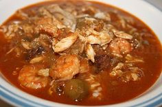 Seafood gumbo, made with shrimp, lots of crab, and usually oysters is definitely a Deep South tradition.