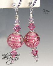 Artisan crafted lampwork bead earrings