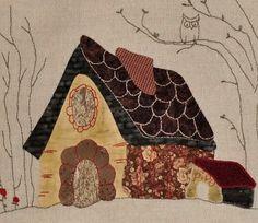 Eva Gustems Applique Patterns, Applique Quilts, Quilt Patterns, Quilt Baby, House Quilt Block, Quilt Blocks, Jellyroll Quilts, Mini Quilts, Japanese Patchwork