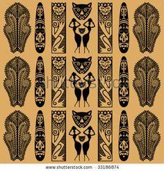 Ethnic black African ornament