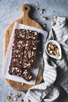 No-Bake Hazelnut Ganache Brownies {gluten-free, vegan, refined sugar-free}