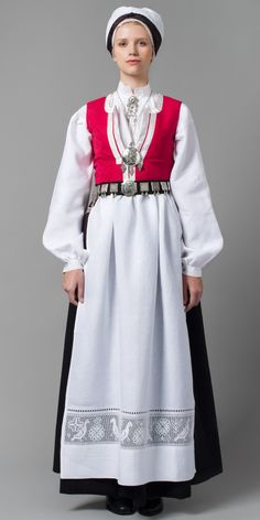 Hello all, this is part three of my overview of Norway, even if I published them out of order. This will cover the west of Norway. Folk Costume, Costumes, Norwegian Clothing, Norwegian Wedding, Hardanger Embroidery, People Around The World, Traditional Dresses, Norway, High Neck Dress