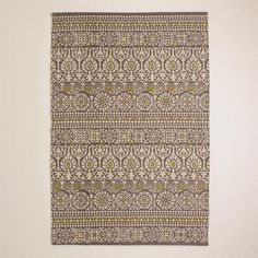 One of my favorite discoveries at WorldMarket.com: 4'x6' Gray Floral Print Indoor-Outdoor Rug
