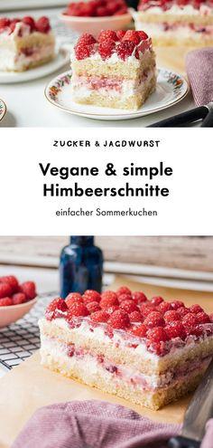 Himbeerschnitte - All the vegan sweets! -Vegane Himbeerschnitte - All the vegan sweets! Desserts Végétaliens, Desserts Sains, Vegan Sweets, Healthy Dessert Recipes, Vegan Recipes, Dinner Recipes, Dessert Simple, Raspberry Cake, Raspberry Cheesecake