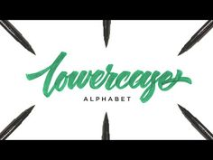 Hand Lettering Tutorial for Beginners | Lowercase Alphabet - YouTube