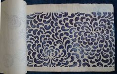 Katagami Sample Book1 Katazome Stencils Japanese Textiles