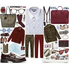 MEN   Gucci Blue Striped Contrast-Collar Cotton Shirt