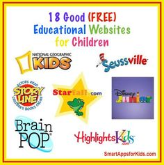 Updated! Top 22 Free Educational Websites for kids