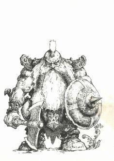 deviantART: More Like Dwarf Portrait - Full Pencils by *Inkthinker