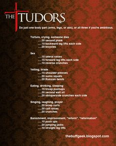 The Tudors | 43 Workouts That Allow You To Watch An Ungodly Amount Of Television