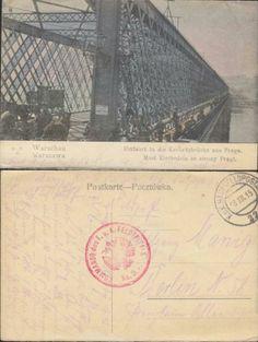 Warszawa Most Kierbedzia 18.XII 1915r. Vintage postcard, Alte postkarte aus…