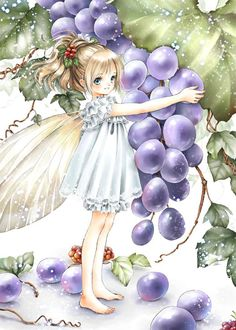 Fairy princess with wings by manga artist Shiitake.