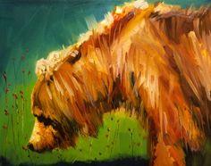 ARTOUTWEST BEAR ART DIANE WHITEHEAD WILDLIFE OIL PAINTING, painting by artist Diane Whitehead