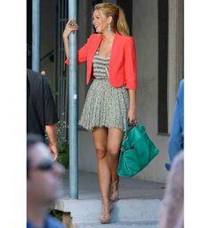 Style de Serena Van der Woodsen : la veste flashy