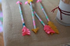 Make your own colorful arrows at your Brave movie party - A unique outdoor movie night theming idea from Southern Outdoor Cinema