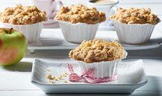 Apfel-Streusel-Muffins                              -                                  Apfelmuffins mit Zimtstreuseln