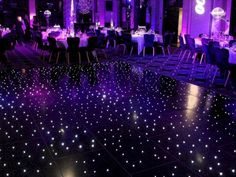 Newest Absolutely Free Marvelous Wedding Dance Floor Lighting Design Ideas Tips In the countless years, we've allocated to the dance surfaces with this earth, we have skilled so Purple Wedding, Diy Wedding, Wedding Events, Wedding Reception, Dream Wedding, Weddings, Light Up Dance Floor, Dance Floor Lighting, Starry Night Wedding