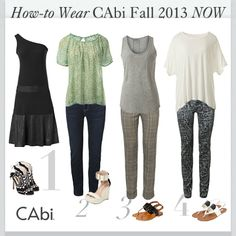 See how to wear #CAbi Fall 2013 now and transition from summer style to fall fashion!