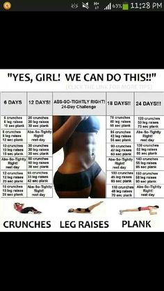 Midsection 30 day challenge
