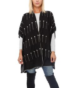 This Black Matchstick Open Cardigan is perfect! #zulilyfinds
