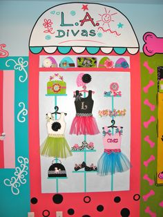 Here are more dots in murals.Love this mural with our L.A. Divas logo in it!