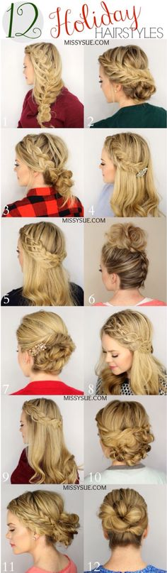 cute hairstyles they say for the holidays but there cute anytime