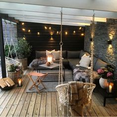 Gorgeous Backyard Patio Deck Design and Decor Ideas Inspiring You - Pergola Ideas Garden Room, Decor, Patio Design, Balcony Decor, Interior Garden, Living Decor, Home Decor, Backyard Decor, Room Decor