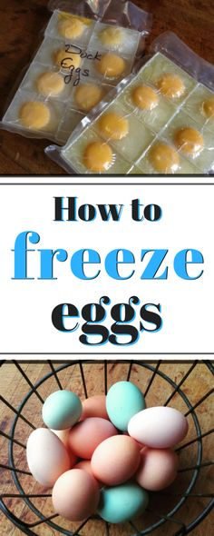 Here's The Best Way To Freeze Eggs For Long Term Storage - They Stack Easily In The Freezer And Thaw Wonderfully For Using Later Via Saltinmycoffee Poutine, Freezer Cooking, Freezer Meals, Canning Recipes, Egg Recipes, Light Recipes, Freezing Eggs, Canned Food Storage, Freezer Storage