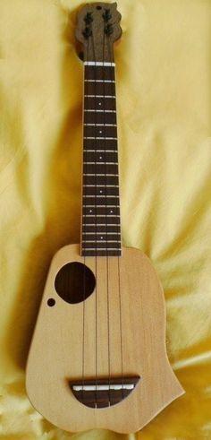 """K Takahashi """"Spirit long neck Mini Cool Ukulele, Cool Guitar, Ukulele Design, Flutes, Music Stuff, Bridges, Musical Instruments, Music Artists, Acoustic"""