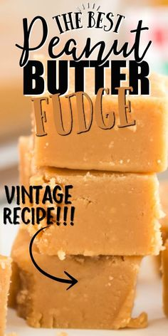 Rich and creamy, this peanut butter fudge is irresistible. It takes only a handful of ingredients and a few minutes to make this classic treat! Pb Fudge Recipe, Fudge Recipes, Candy Recipes, Holiday Recipes, Dessert Recipes, Peanutbutter Fudge Recipe, Bomb Recipe, Popcorn Recipes, Mini Desserts