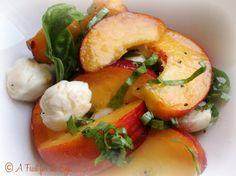 A Feast for the Eyes: California Peach Caprese Salad
