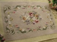 This list is for a SWEET PREWORKED needlepoint creation.SHABBY CHIC PINK roses with light brown/gray vines design, great for your piano bench. Vine Design, Pink Roses, Needlepoint, Brown And Grey, Elsa, Cross Stitch, Sweet, Model, Point Lace
