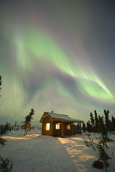 A realistic view of what you might see on our aurora tours!