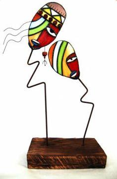escultura de vidrio vidrio,estaño,madera tiffany