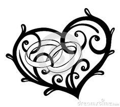 Heart, rings, wedding