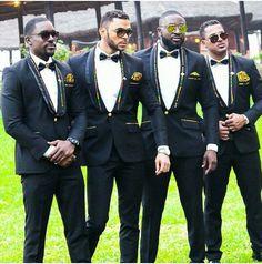 I love the kente lapel trimmings and pocket handkefchiefs. Suits Designed by Elikem Kumordzie, worn by Mawuli Gavor, Jose Tolbert, Van Vicker and Elikem Kumordzie. I Do Movie #ElikemKumordzie suits Ghanaian #Ghanaian #Ghana